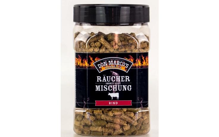 Don Marcos Räucher Mischung Rind 450 Gramm Räuchermischung für Gasgrill und Holzkohlegrill