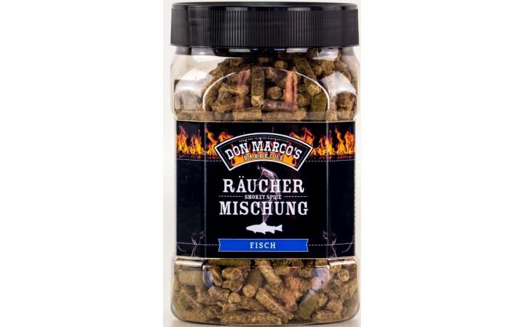Don Marcos Räucher Mischung Fisch 450 Gramm Räuchermischung für Gasgrill und Holzkohlegrill