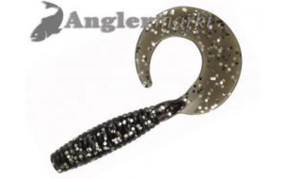 Tricky Soft Twister 15 cm Schwarz mit Glittereffekt