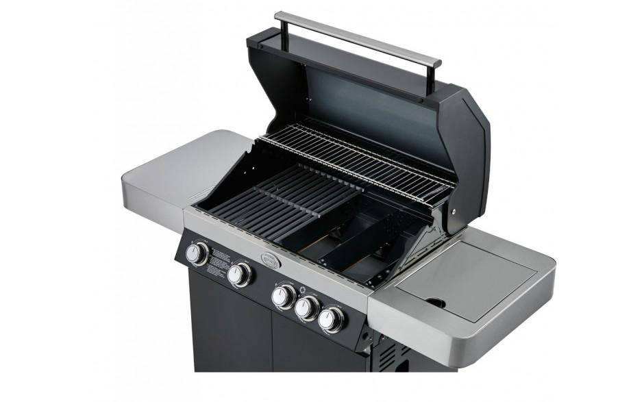Rösle Gasgrill Gourmet G3 : Videro g3 gasgrill schwarz mit 3 brenner und seitenbrenner hier im
