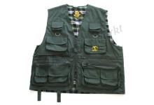 Behr Anglerweste Fliegenweste mit 12 Taschen und großer Rückentasche