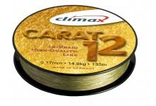 Climax Carat 12 geflochtene Angelschnur moos grün 0,15 mm 12,8 kg   135 Meter