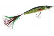 Wobbler MK Grosshecht-Schlange 13 cm 27 Gramm bis 2 Meter Taucht. Angelwobbler Farbe Hecht Natur