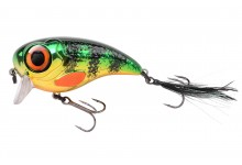 Spro Fat Iris Wobbler Kunstköder Farbe Chrome Perch 80 mm 40 Gramm Hechtwobbler
